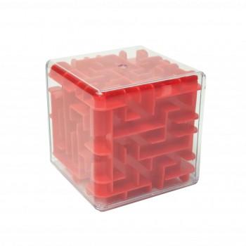 Головоломка 3D-лабиринт F-1 куб (Красный)