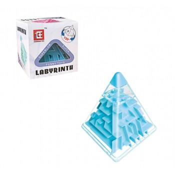 Головоломка Пирамидка лабиринт F-3 пластиковая (Синий)