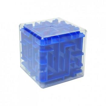 Головоломка 3D-лабиринт F-1 куб (Синий)