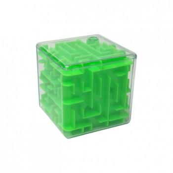 Головоломка 3D-лабиринт F-1 куб (Зеленый)