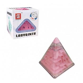 Головоломка Пирамидка лабиринт F-3 пластиковая (Розовый)