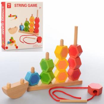 Развивающая игрушка Пирамидка MD 2488 деревянная