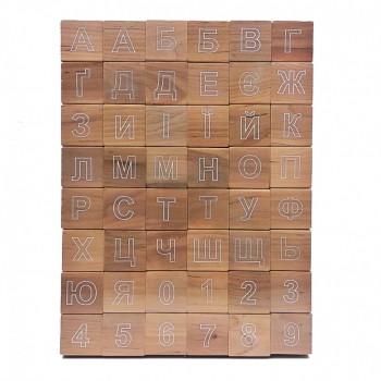 Детские кубики с алфавитом 11200 деревянная азбука