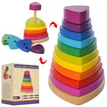 Деревянная игрушка Пирамидка MD 2755 фигурки 10 шт