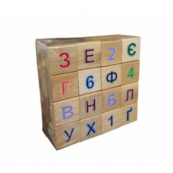 Деревянные кубики с алфавитом 11201 цветная азбука