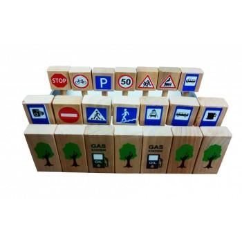 Детские игровые дорожные знаки 11021 деревянные