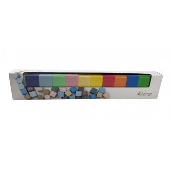 Развивающие кубики цветные 11221 деревянные