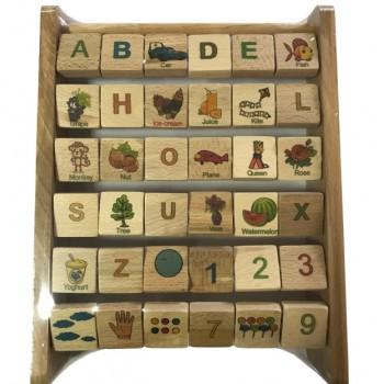 Деревянная Азбука 172195 английский язык