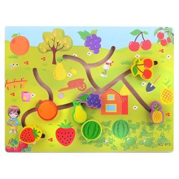 Деревянная игрушка WD2729 лабиринт (Фрукты и ягоды)