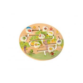 Детская развивающая игрушка-лабиринт MD 2355 деревянная (Фрукты)