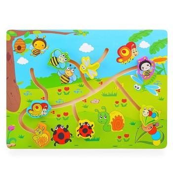Деревянная игрушка WD2729 лабиринт (Насекомые)