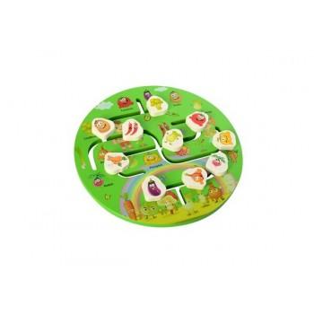 Детская развивающая игрушка-лабиринт MD 2355 деревянная (Овощи)