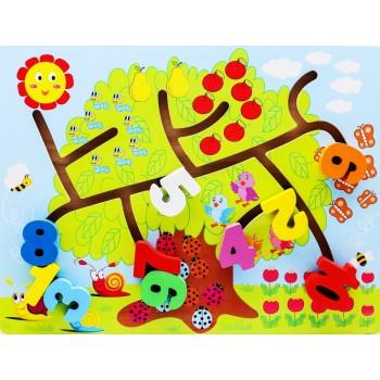 Деревянная игрушка WD2729 лабиринт (Цифры)