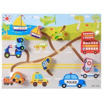 Деревянная игрушка WD2729 лабиринт (Транспорт)