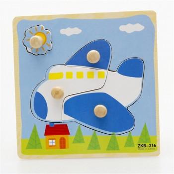 Деревянная игрушка WD599 вкладыши (Самолёт)