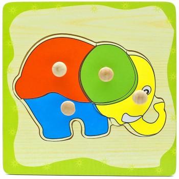 Деревянная игрушка WD599 вкладыши (Слоник)
