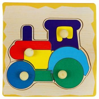 Деревянная игрушка WD599 вкладыши (Трактор)