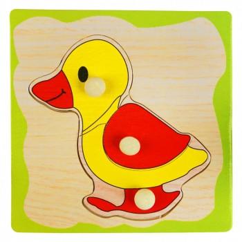 Деревянная игрушка WD599 вкладыши (Уточка)