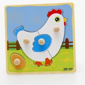 Деревянная игрушка WD599 вкладыши (Курочка)