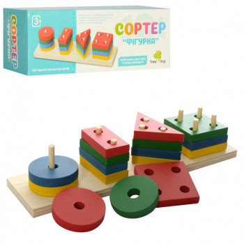 Развивающая игрушка Геометрика MD 0715 деревянная