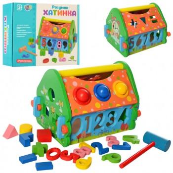 Развивающая игрушка сортер стучалка MD 2367 деревянная