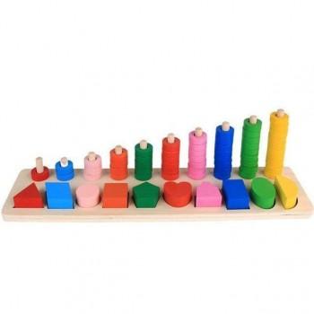 Развивающая игрушка Геометрика MD1268 деревянная (Фигуры)