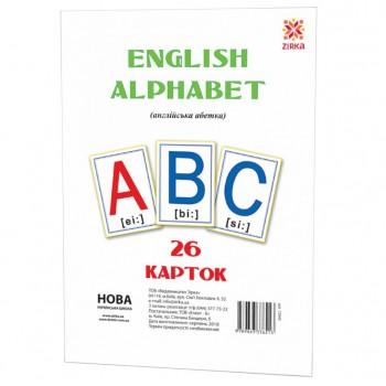Большие обучающие карточки Буквы Английские 72949 А 5 200х150 мм