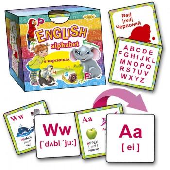 Английский алфавит в картинках Alphabet MKO0003 со складами