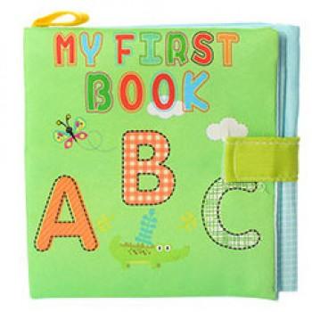 Детская тканевая книжка на липучке LT2984, 4 вида ( LT2984-2 (Буквы))