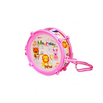 Барабан детский 166-20 с палочками (Розовый)