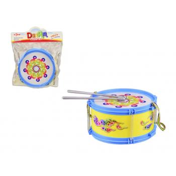 Барабан детский 019 с палочками (Синий)