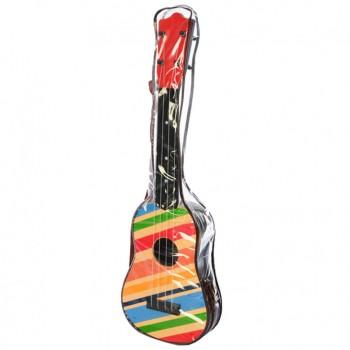 Детская Гитара 2508D в чехле 57 см (Разноцветные линии)