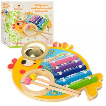 Детская игрушка Ксилофон MD 0903 деревянный