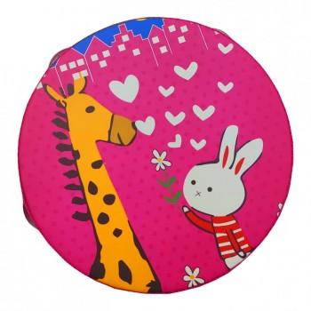 Деревянная игрушка Бубен MD 0367  15 см  (Кролик и Жираф)