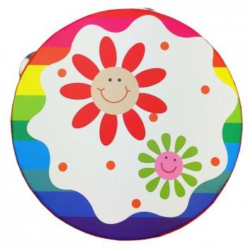 Деревянная игрушка Бубен MD 0367  15 см  (Солнышки-Цветочки)