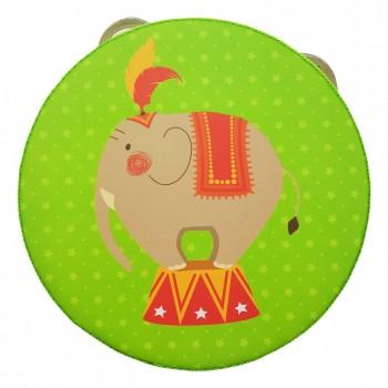 Деревянная игрушка Бубен MD 0367  15 см  (Слоник)