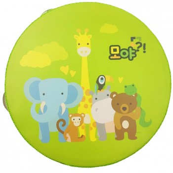 Деревянная игрушка Бубен MD 0367  15 см  (Дикие Животные)