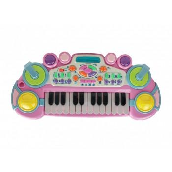 Детский синтезатор CY-6032B(Pink), 24 клавиши