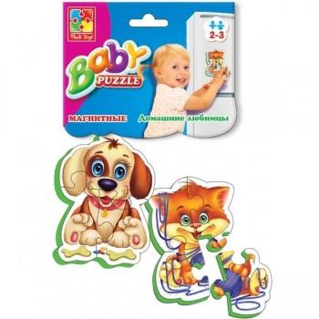 Детские пазлы на магните «Домашние любимцы» Baby-Puzzle VT3208-02,  2 пазла, 9 деталей