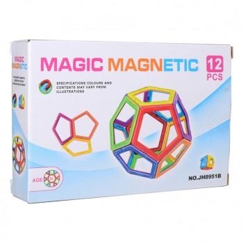 Детский магнитный конструктор JH8951B, 12 деталей