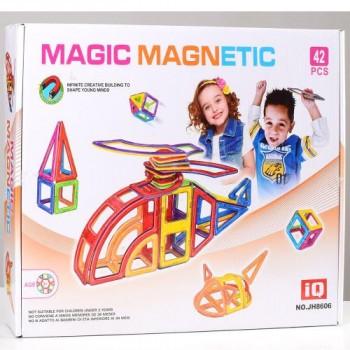 Детский магнитный конструктор JH8606, 42 деталей