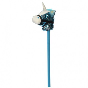 Лошадка на палке MP 2138, 75 см (Голубой)