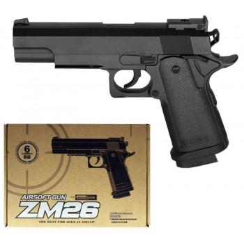 Детский пистолет на пульках CYMA ZM26 металлический