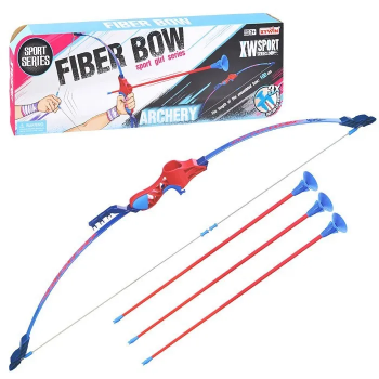 Детский лук 9832 A/B стрелы на присосках (Синий)