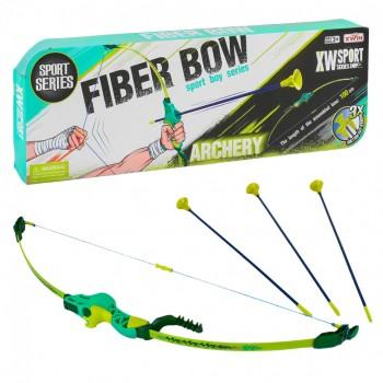 Детский лук 9832 A/B стрелы на присосках (Зелёный)