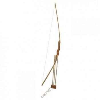 Игрушечный лук 55см с чехлом для стрел + три стрелы, бук 171874у