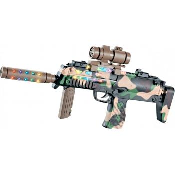 Автомат свето-звуковой HK MP7 в наборе с очками