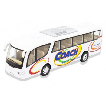 Детский игровой Автобус KS7101 открываются двери (Белый)