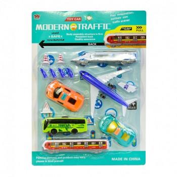 Детский игровой набор Аеродром 225-7740 с поездом и автобусом