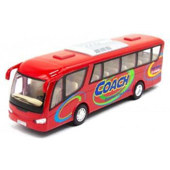 Детский игровой Автобус KS7101 открываются двери (Красный)